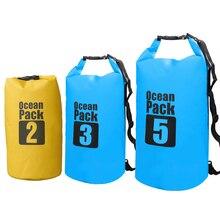 2L 3L 5L Водонепроницаемый сухой мешок рулонный Топ компрессионный плавательный мешок для хранения для рафтинга каякинга Кемпинг плавающий парусный Каноэ