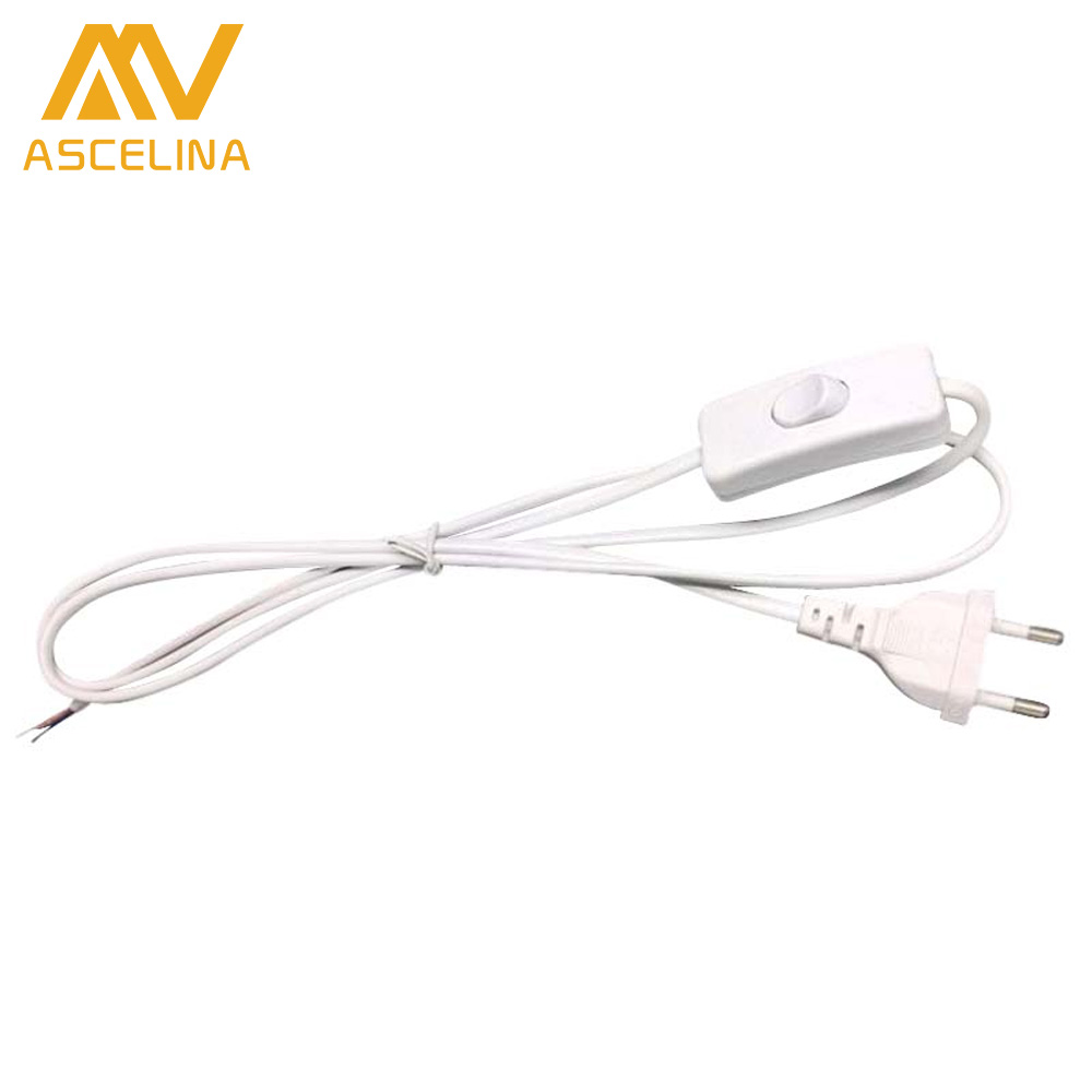 line Cable 1 8m On Off Power Cord For LED Lamp with Button switch switch US