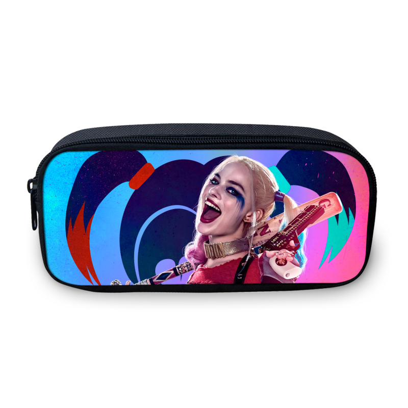 2017 New Design Suicide Squad Cartoon Cosmetic Bags For Teenage Girls 3D Picture Make Up Bag For Women Fans Best Gifts