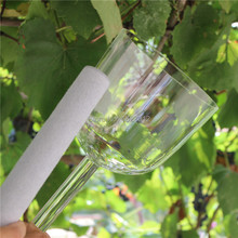 3th octave about 7 inch large clear quartz crystal singing bowl with handle with Music note