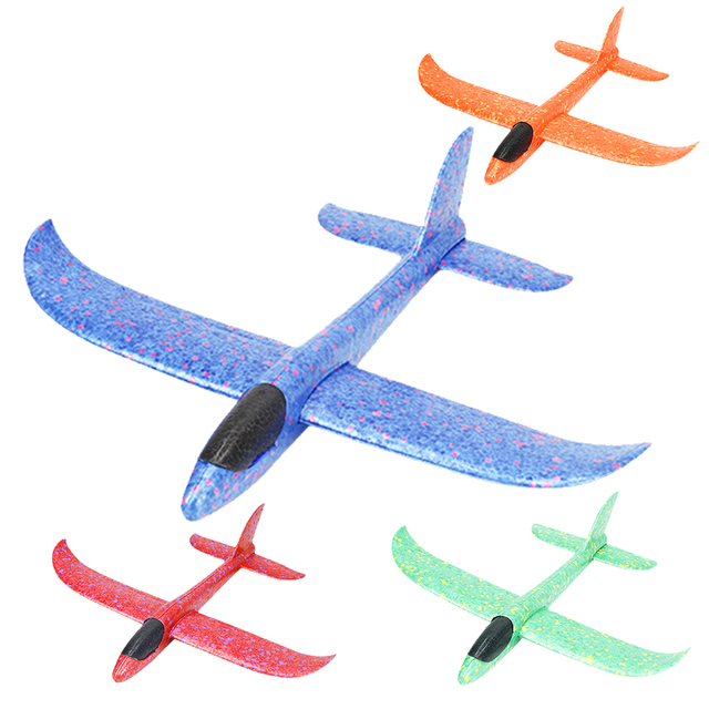 4pcs 비행기 손 던지기 거품 비행기 모형 아이들 옥외 Flaying 글라이더 장난감 EPP 저항하는 브레이크 아웃 항공기