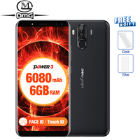 Ulefone Power 3 18 9 Full Screen Smartphone 6080mAh 6 0 P23 Octa Core Face ID