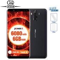 Ulefone Мощность 3 18:9 полный Экран смартфон 6080 мАч 6,0 P23 Восьмиядерный Face ID 21MP четыре Камера Оперативная память 6 ГБ Android 7,1 мобильный телефон