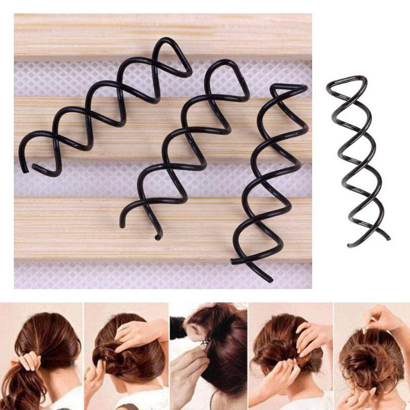 Magic Spiral Shape Fixed Hairpins For Women Girl Hair Styling Tools Buns Curling Headwear Hair Clips Invisible Hair Accessories
