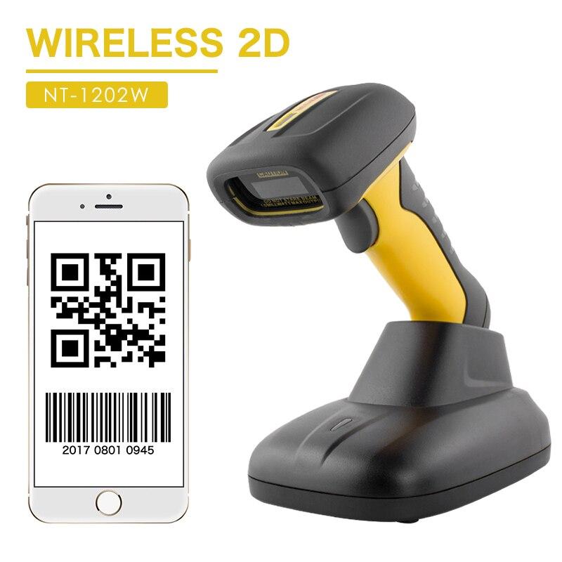 NETUM wodoodporna Bluetooth 2D skaner kodów kreskowych przenośny 32Bit QR USB kod kreskowy czytnik PDF417 macierzy danych skanowania A4 dla system pos
