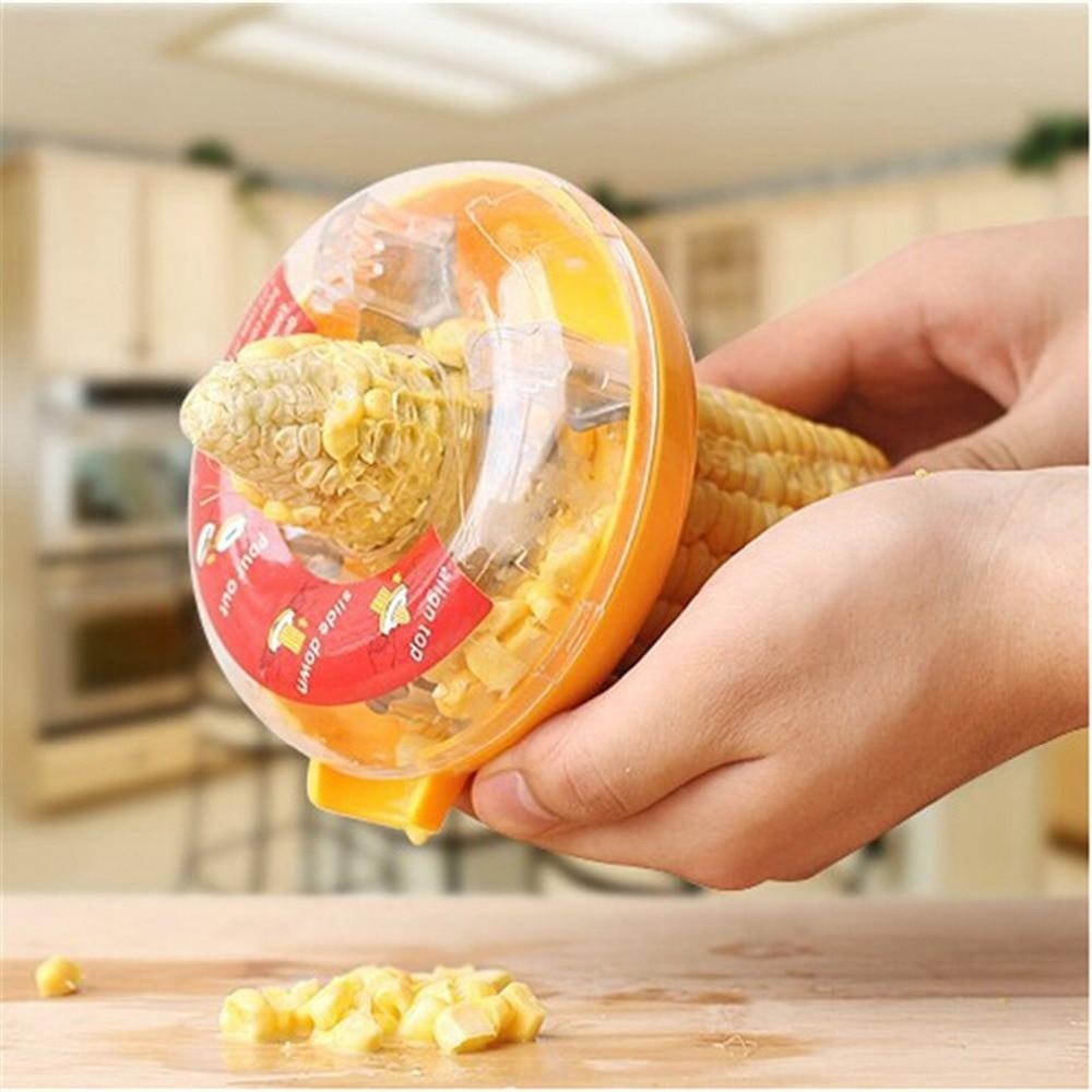 Home Kitchen Gadgets Accessories Tool Corn Grain Cob Thresher Stripper Peeler Re