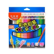 48pcsset maped diy graffiti colored pencils 48colors painting colour pencil childrens school gift cute