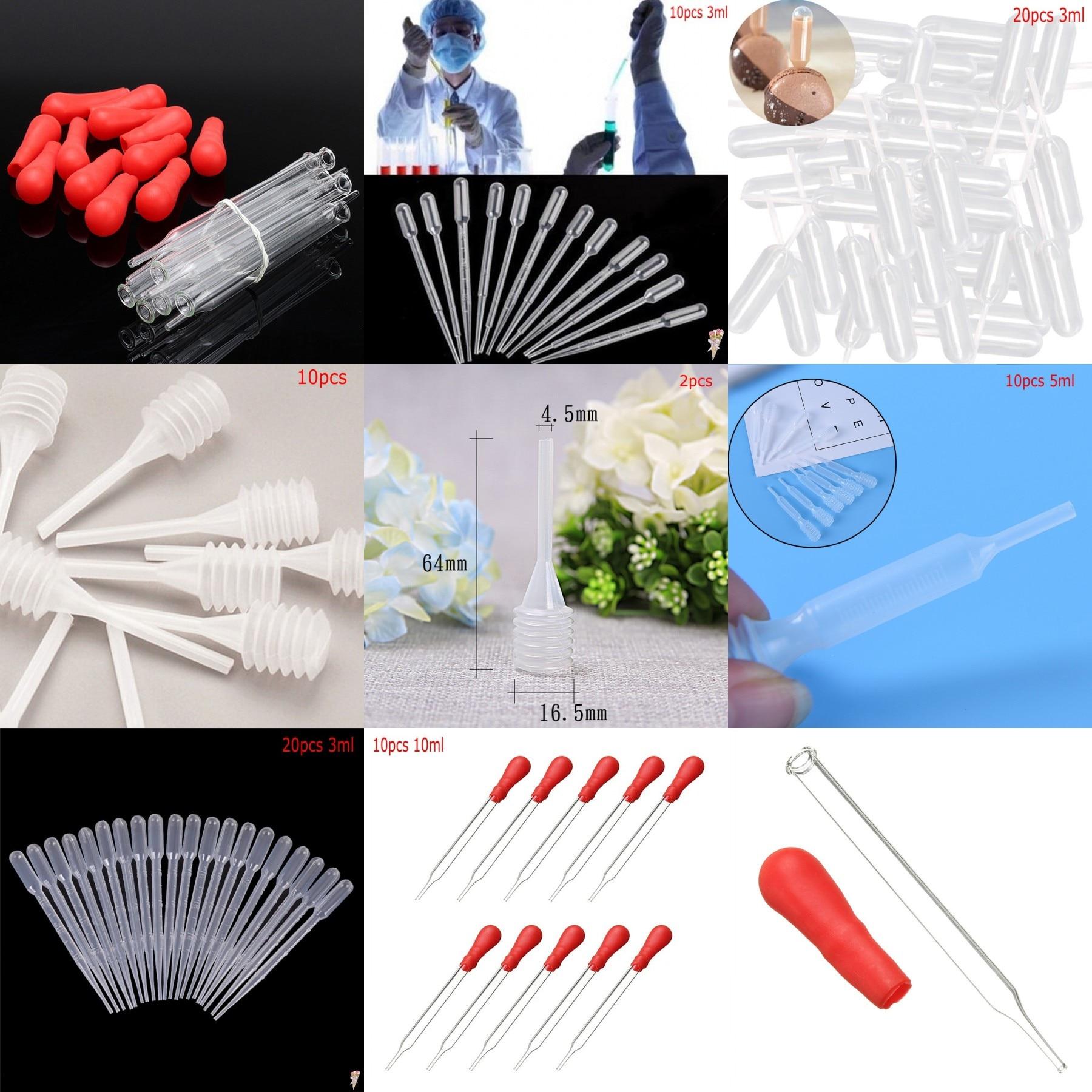 2/10/20/50/pcs 3/5/10ml Rubber Head Lab Dropper Pipette Glass Experiment Medical Pipette Dropper Transfer Pipette Lab Supplie