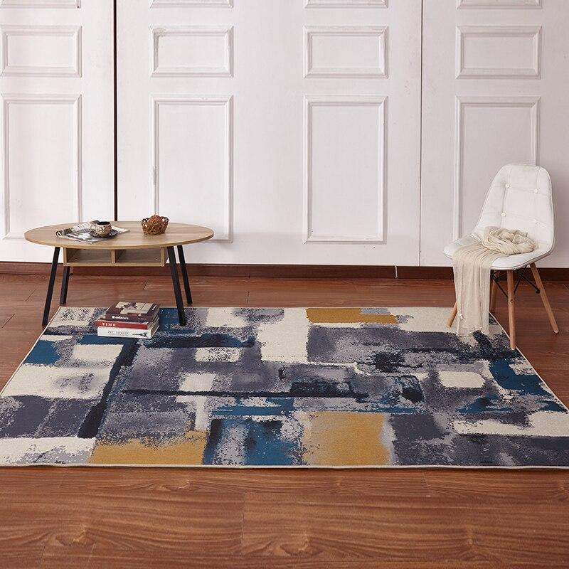 8mm épaisseur grand tapis salon abstrait simple canapé table basse tapis rectangulaire maison européenne tatami repas magasin