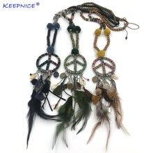 Новое роскошное эффектное богемное деревянное ожерелье с бусинами