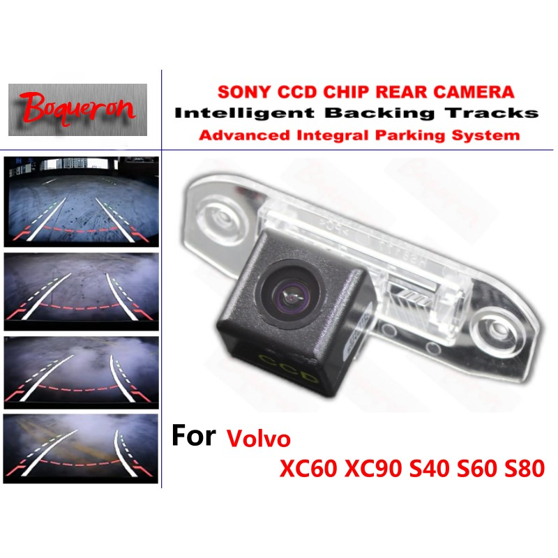 Pour Volvo XC60 XC90 S40 S60 S80 CCD caméra de recul de voiture voies intelligentes guidage dynamique caméra de recul