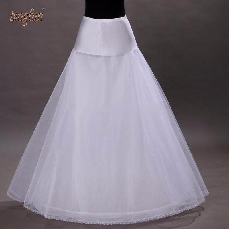 طويل تول الزفاف التنورة الداخلية ألف خط رخيصة الزفاف تحتية enaguas الفقرة vestidos دي novia
