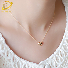 metal heart pendant necklace women gargantilla gold silver plated chain choker necklace gothic chockers 2017 fashion jewelry