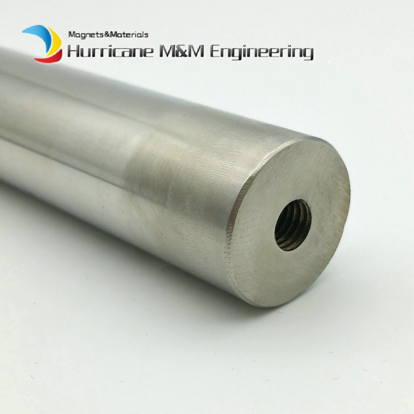 NdFeB Magnetic Wand Sealed Dia. 25x300 mm with 8mm Hole about 6K-13.5K GS Cylinder Neodymium Magnet Stainless Steel Iron Removal