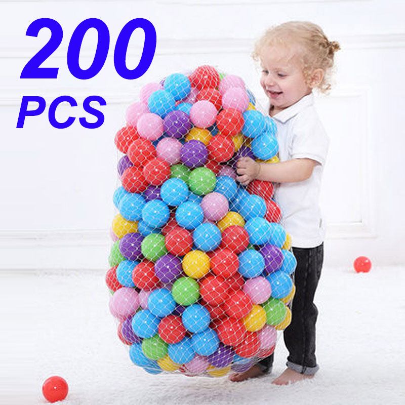Colors Baby Plastic Balls Water Pool Ocean Wave Ball Kids Swim Pit With Basketball Hoop Play House Outdoors Tents Toy HYQ2(China)