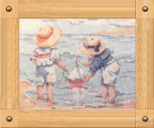Fishxx Cross Stitch Kits A101 Friends of the crew and ship Paintings Sets Embroidery 100% Egyptian cotton lovely on needlework