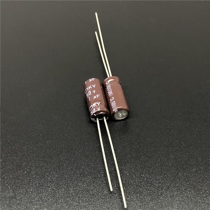 10pcs 1uF 50V NIPPON NCC KY Series 5x11mm Low ESR 50V1uF Aluminum Electrolytic Capacitor