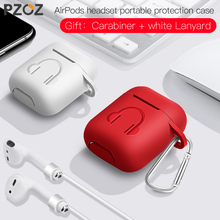 PZOZ Earphone Case For Apple Airpods strap Soft Silicone headphone Case Earphone accessories Protective wireless bluetooth