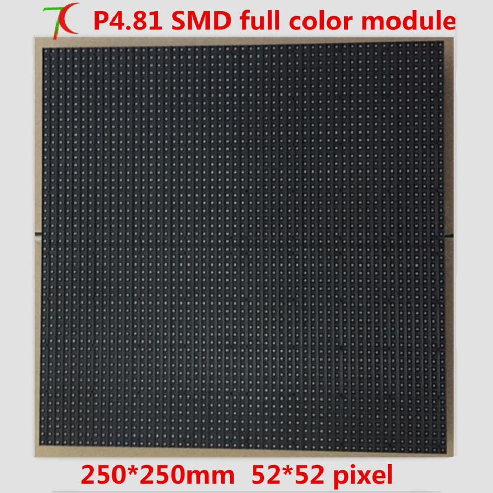 Normal Brightness P4.81 Indoor 16scan Full Color 250*250mm Led Board Use Smd2121 Lamps ,1200cd