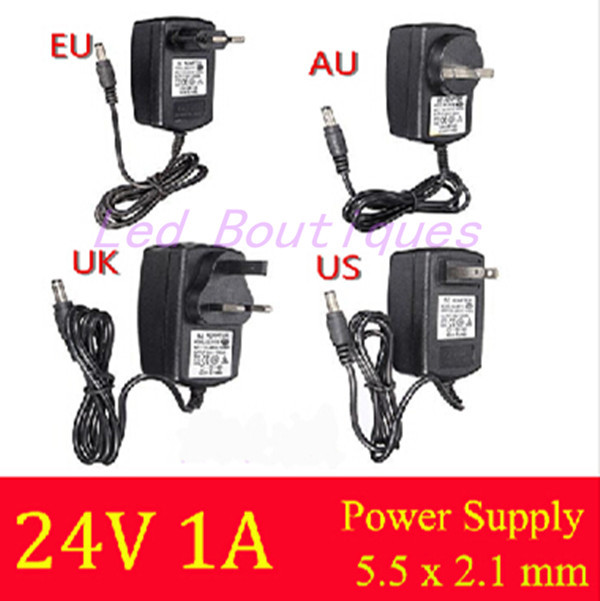 Newest AC 100V-240V Converter DC 24V 1A Server Power Supply Adapter US UK EU AU plug for ADSL Cats 5.5mm*2.1mm kingwei 1pcs dc 16 8v 1a ac 100v 240v converter switching power adapter supply eu us uk plug charger for 18650 lithium battery