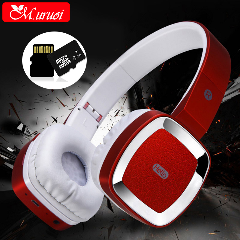 M.uruoi Bluetooth Headset TF Card Headphone Bass Wireless Earphone Earpiece Subwoofer For Mobile Phone Handsfree Casque Audio original creative aurvana live headphone subwoofer headset with biological diaphragm for computer and mobile phone
