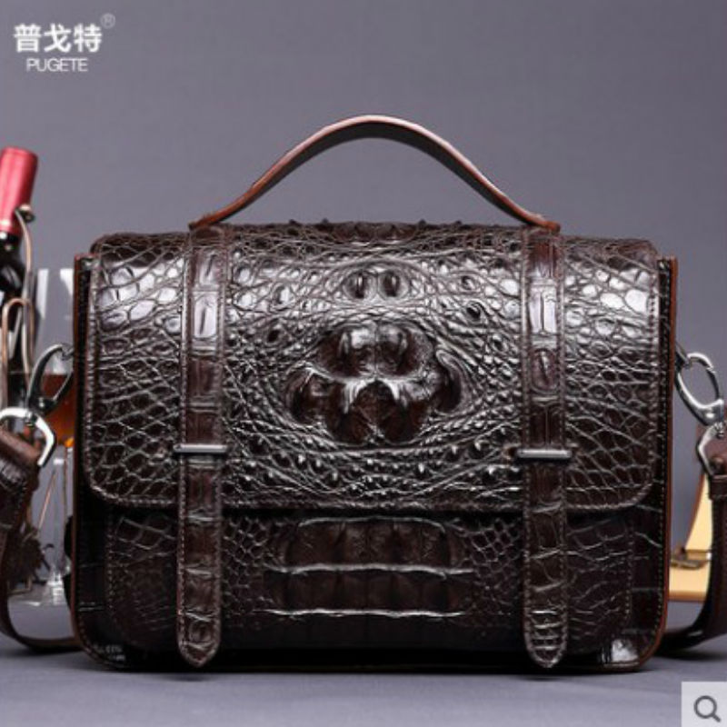 pugete crocodile skin male handbag messenger bag Europe and the United States business casual leather shoulder bag men handbag go games word search
