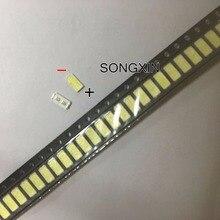 1000PCS Für LG SMD LED 6030 6V 1W Kalt Weiß Für TV Hintergrundbeleuchtung LED Perlen beste qualität LATHT420M