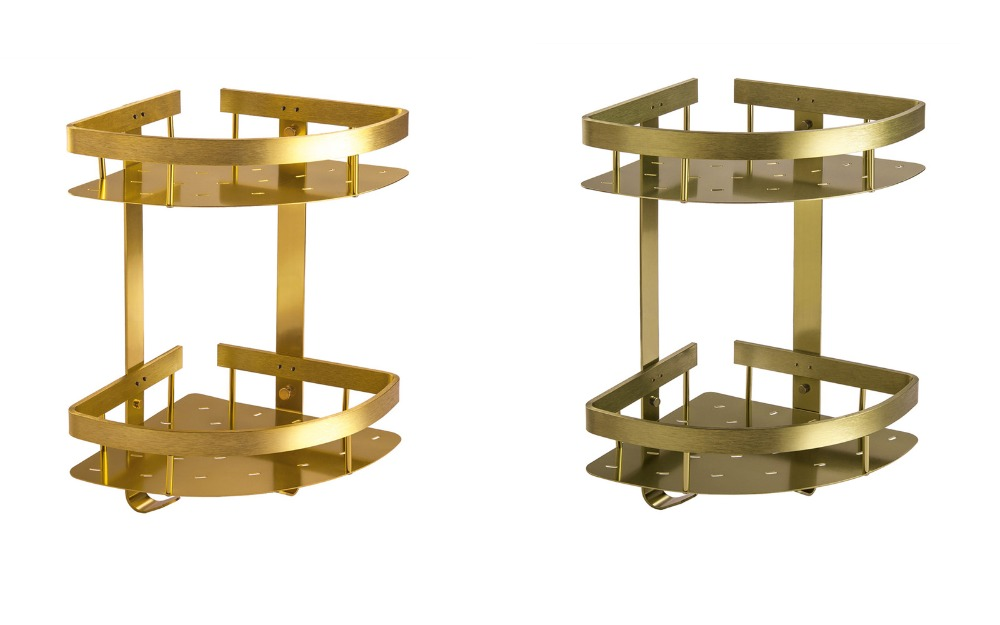 ФОТО Aluminum Gold Or Bronze Bathroom Shelves With Wall Mounted ,Bathroom Accessories Shelf For Free Shipping