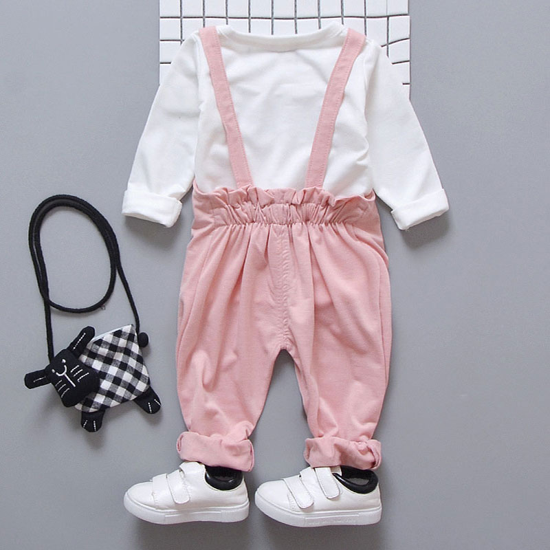 Image 4 - Spring newborn baby girls clothes sets fashion suit T shirt + pants suit baby girls outside wear  sports suit clothing sets-in Clothing Sets from Mother & Kids