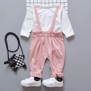 Image 4 - Spring newborn baby girls clothes sets fashion suit T shirt + pants suit baby girls outside wear  sports suit clothing sets
