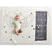 Baby Month Commemorate Blanket For All Seasons Childreb Small Flannel Blanket Newborn Infant Blanket sewing for all seasons