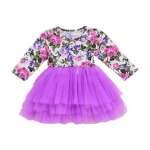 Newborn Baby Girls Dress Flower Party Princess Pageant Wedding Tutu Dresses Children Clothes girls dress lace cap sleeve pink party flower girl dress 2019 summer princess wedding dresses children clothes pageant sundress