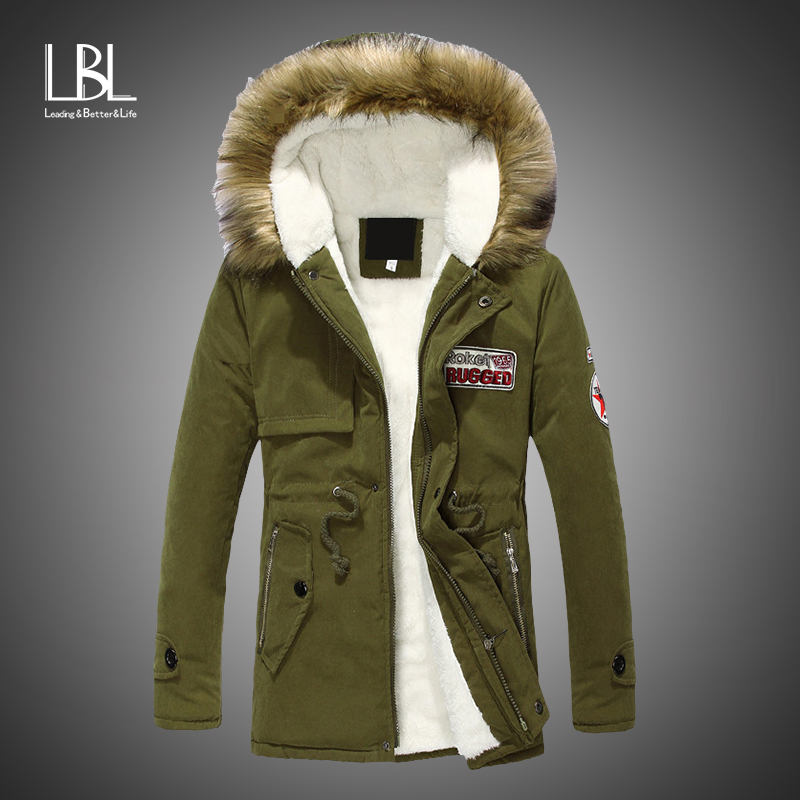 Parka Men Winter Jacket Men Coats Slim Thicken Hooded Outwear Top Clothing Casual Mens Coat