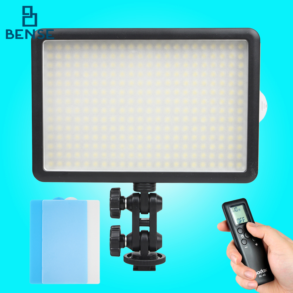 Godox LED-308Y 3300K LED Camera Video Light +Remote Control for Ddigital DV godox led 308y 308 leds professional led video 3300k light with remote control for canon nikon camera dv camcorder