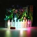 Corcho En Forma de LED de Luz de La Batería LED Luz de la Secuencia de Hadas Bombilla de La Lámpara Del Jardín de Casa de Navidad estrellada Alambre de Cobre Botella de Vino decoración