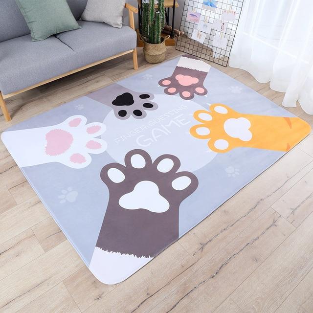 Cartoon Katze Palm Teppich Kinderzimmer Home Soft Tatami Bodenmatte ...