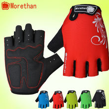 Hot sales Shock-proof ladies gel padding half finger cycling gloves