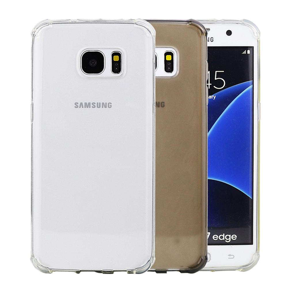 Silicone Samsung Galaxy S7 Edge Transparent Shockproof Clear Crystal Rubber Soft TPU Cover For Samsung S7 Edge