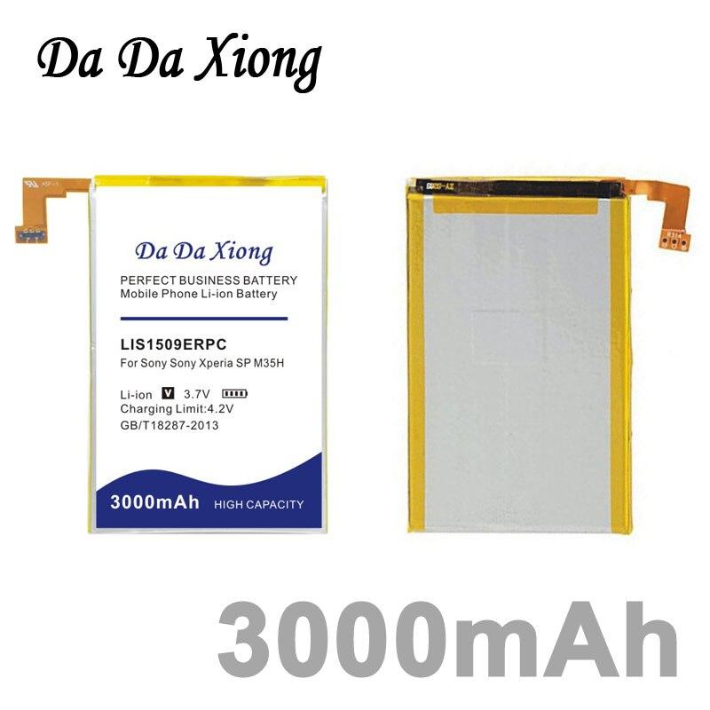 imágenes para Da da xiong 3000 mah li-ion batería para sony ericsson sp m35h m35 lis1509erpc lte hspa c5302 c5303 c5306