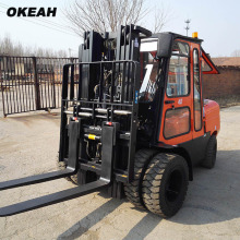 Powerful 4 Tons Forklift With Cockpit Side shifter and  Positioner 6 Solid Tyres