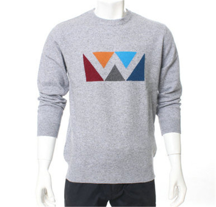 100%goat Cashmere Knit Men New Fashion Pullover Sweater Hal-high Collar Smart Casual Dark Blue 2color S-2xl Pullovers