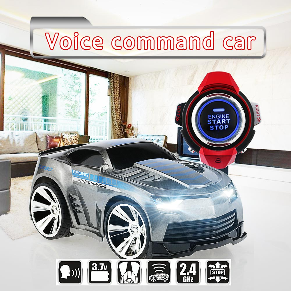 e7f3788b7c7 New RC Car with smart watch car voice control car with LED head light Smart  watch voice command kid best gifts vs 48400 48500