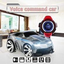 Новый автомобиль RC Смарт-часы автомобиля голосового управления автомобиля с головным светодиодные Смарт-часы голосовых команд малыш лучший подарки против 48400 48500