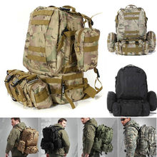 Hot 50L Military Tactical Backpack Waterproof 600D Nylon Rucksacks Outdoor Travel camping Hiking Sport Military Backpacks