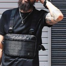 April MOMO 2020 Мужская нагрудная сумка в стиле хип хоп, уличная функциональная нагрудная сумка, сумка через плечо, регулируемые тактические уличные сумки