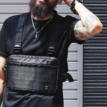 Nisan MOMO 2020 erkekler göğüs Rig Hip Hop Streetwear fonksiyonel göğüs çanta çapraz omuzdan askili çanta ayarlanabilir taktik Streetwear çanta