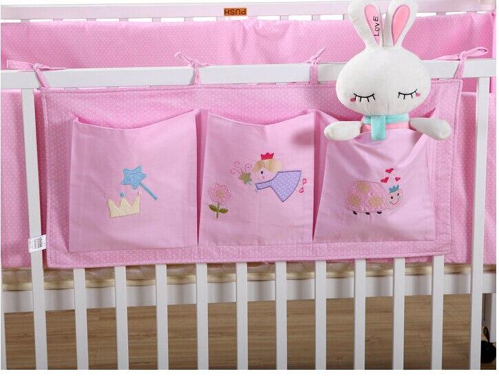 Ropa de cama de beb cama de almacenamiento colgando cuna bolsa organizador juguete de pa ales - Organizador de cuna ...