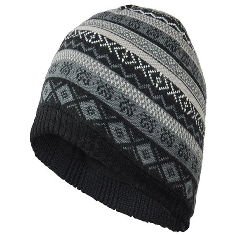 f082c2f54d3 Kenmont Men s Winter Wool Hat Sport Snow Knitted Beanie Hat KM 1345 01 Black-in  Skullies   Beanies from Apparel Accessories on Aliexpress.com