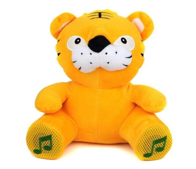 Cute Cartoon Electronic Pets tiger Plush Toy Speaker FM Radio Mini Speaker for Mobile Phone PC Laptop U Disk SD  Card