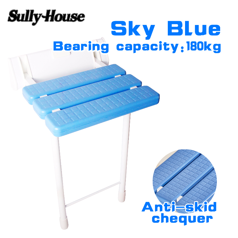 Sully House Anti-skid Shower Folding Seat with stool legs,Bathroom Cadeira,Wall Mounted Chair for Elderly,Toilet Folding Chair bathroom folding seat shower stool shower wall chair stool old people anti skid toilet stool bath wall chair